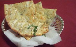 Cheese and Spinach Naan