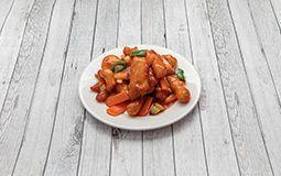 Deep Fried Chicken in Sweet & Sour Sauce