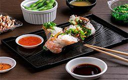 Teriyaki Chicken Rice Paper Roll